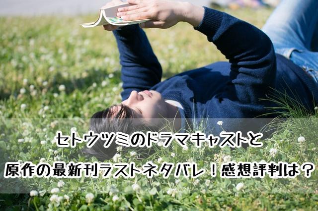 セトウツミ ドラマ 原作