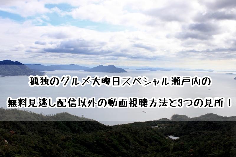 孤独のグルメ大晦日スペシャル瀬戸内